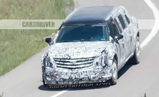 New Presidential Limo going through testing during the day