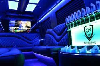 Limo Sprinter blue interior lighting