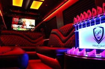 Limo Sprinter Red Interior Lighting