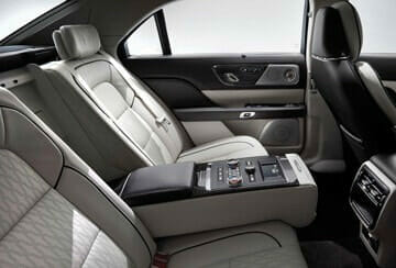 Lincoln Continental Livery Edition interior with fold down seat divider