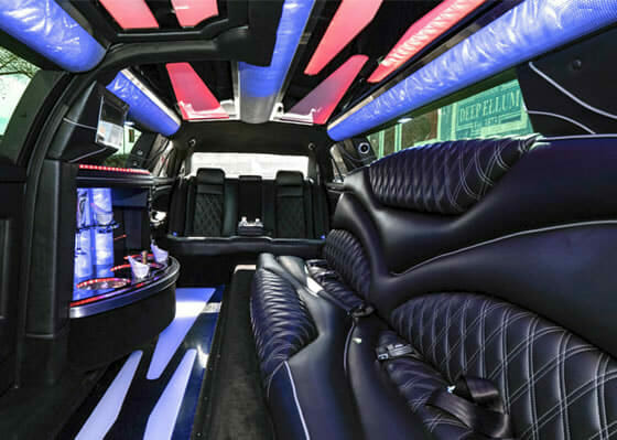 Limousine on the inside